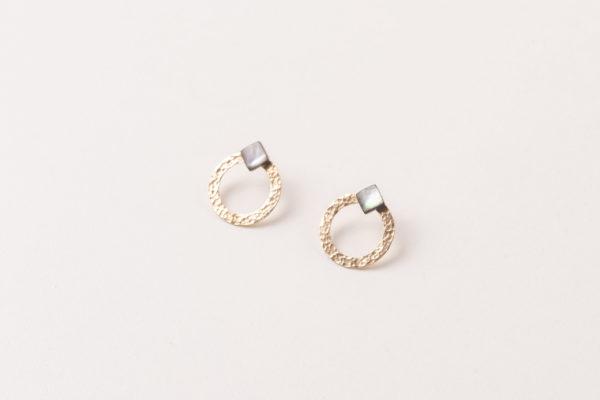 BURKINA gold filled jacket earrings simple