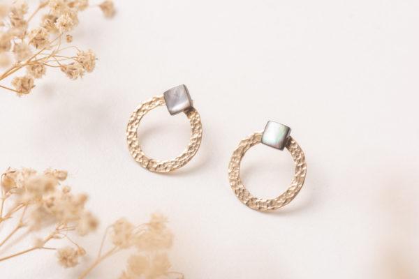 BURKINA gold filled jacket earrings