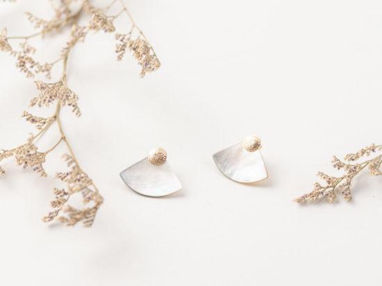 LAOS gold filled jacket earrings