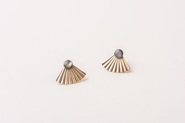 MONGOLIA gold filled jacket earrings