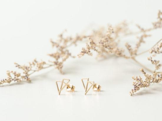 AUSTRIA Gold Studs Earrings