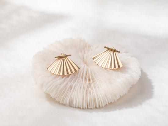 14k Gold Filled Front Back Earrings by ZOAJE